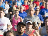 More than 550 people take part in the Madison Area YMCA's The Mind Matters 5K Run at Giralda Farms, Madison, NJ. Wednesday, May 25, 2016.