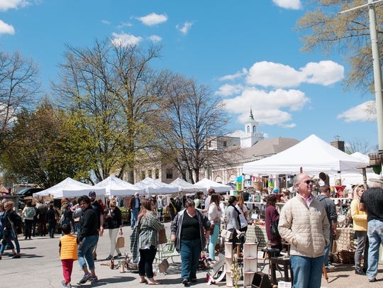 A view of the Bryn Mawr Clover Market. On June 19 the