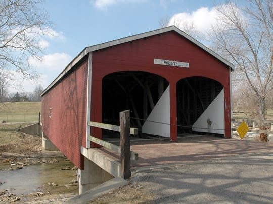 The Roberts Double-Barreled Covered Bridge at Crystal