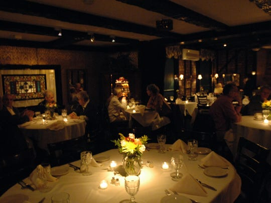 Candlelight and music enhance the ambience at the Ivy