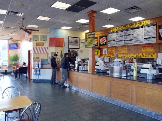 Johnny & Hanges hot dog restaurant.