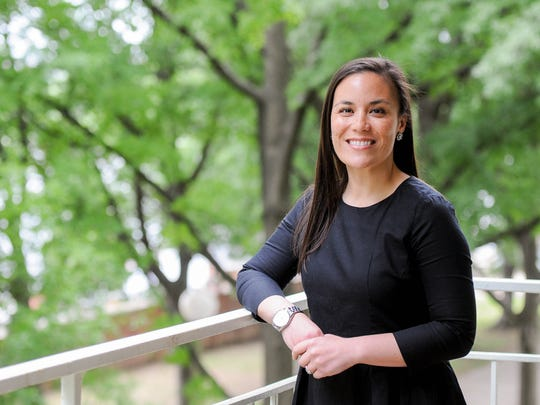 Gina Ortiz Jones, a former Air Force intelligence officer, is a first generation American from San Antonio.