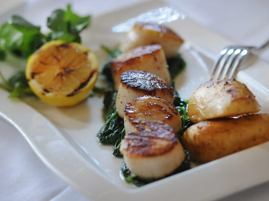 Day boat scallops at Oceanos in Fair Lawn