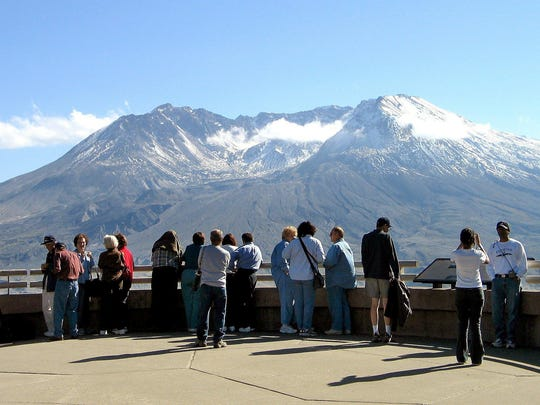 A view of the north side of Mount St. Helens.