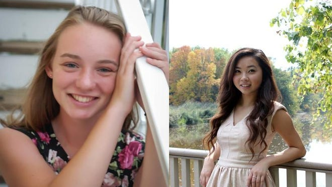 Christy LeMense, left, and Kazua Yang of Green Bay West High School.