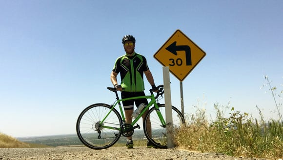 Kyle Griffith exceeded his 150 mile goal and road nearly