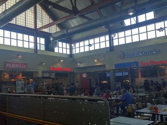 Food and drink options at Sideling Hill plaza include