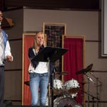 From left to right, Bridgitt Scott and Pastor Malcolm Scott from Abyssinian Christian Church perform with Krista Frable and Pastor Brian Frable at Council Tree Covenant Church in Fort Collins.