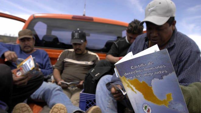 Migrantes repatriados. Foto archivo.