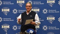 A week away from the NFL Draft Dave Gettleman still wasn't tipping his hand.