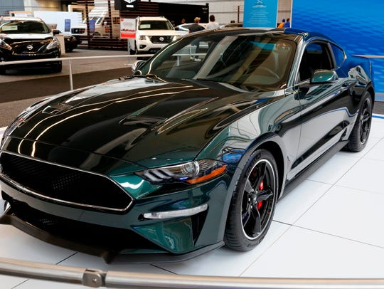 A 2019 Ford Mustang Bullitt on display at the Pittsburgh