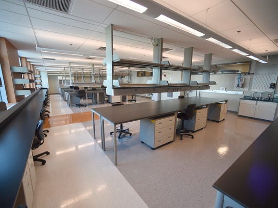 One of 12 research labs inside the Florida Center for Bio-Sciences, with Biological Safety Level 2 or 3 ratings designed for high-level research, are inside the former VGTI building owned by the city of Port St. Lucie.