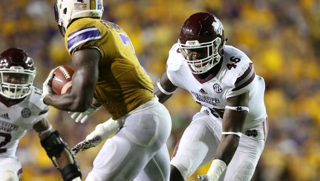 MSU linebacker Dez Harris expects to play on Saturday.