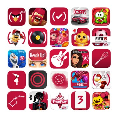Angry Birds' logo will go (RED) during Apple's two-week campaign to raise money to battle HIV/AIDS.