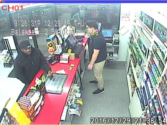 The customer in this photo is suspected of robbing two women Dec. 29, 2016. Des Moines Police are asking for help identifying him.