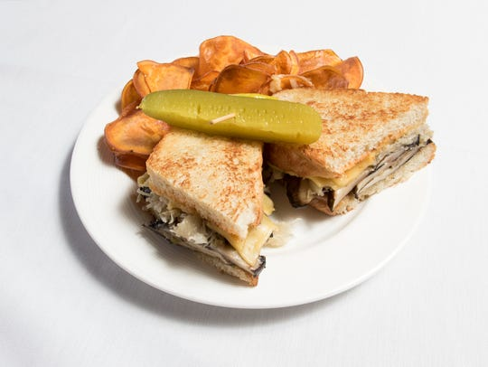 A Mushroom Reuben is one of the new vegan cuisine dishes being added to the menu at Skopelos at New World restaurant in Pensacola. Friday, Oct. 13, 2017.