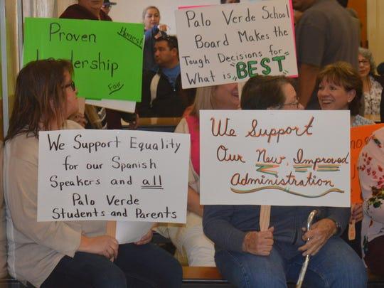 Palo Verde teachers show support for board members