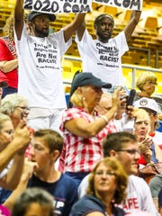 "What some are calling the ""Red Wave"" of President Trump supporters showed up strong for President Donald J. Trump's Make America Great Again Rally at the Florida State Fair Grounds, Expo Hall, Tampa, Florida, July 31, 2018."