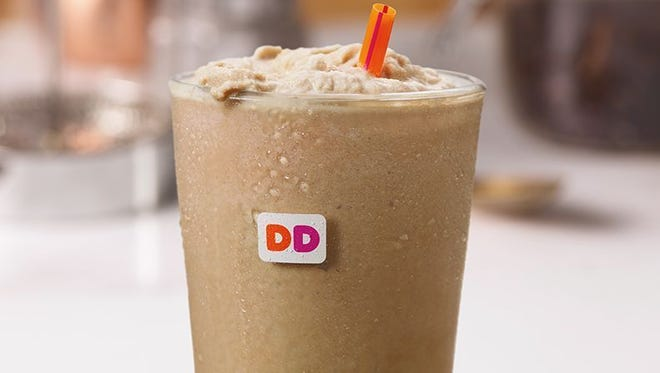 Sample Dunkin' Donuts new Frozen Dunkin' Coffee on Friday.