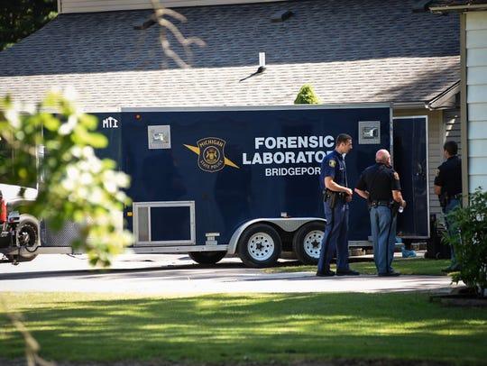 Investigators are at the scene of a death following
