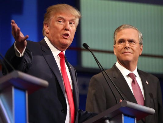 Donald Trump, Jeb Bush