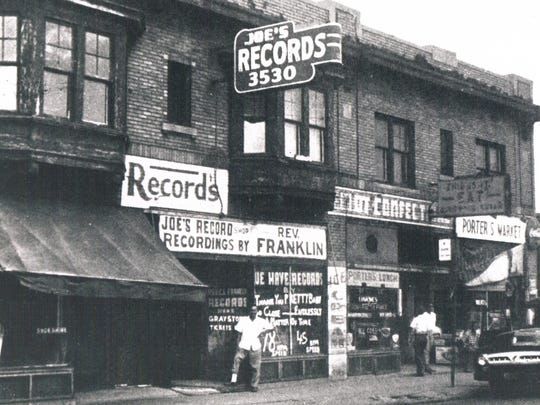 Joe's Record Shop on Hastings in Detroit's Black Bottom area was known for blues music. The neighborhood was later leveled in the name of urban renewal.