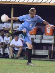 Cade Duncan makes a play during the game against Webster