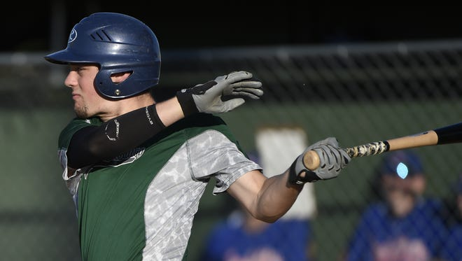 Isaac Wengert drove in Fredericksburg's lone run in Tuesday night's 5-1 loss to Swoyersville in the opening round of the state Legion tournament in Ephrata.