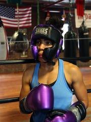 Professional boxer Natalie Gonzalez, 26, prepares for