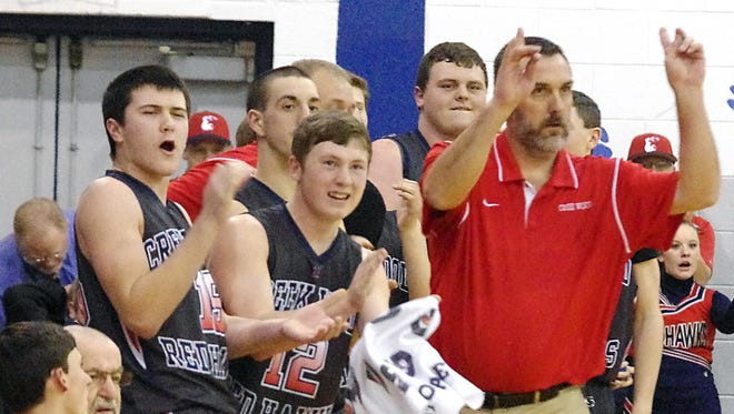 Creek Wood coach Charles Taylor and the Hawks are just three wins away from a perfect regular season.