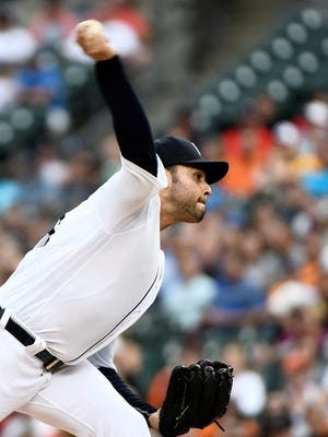 Tigers starter Anibal Sanchez throws a pitch in the first inning against the Royals at Comerica Park on Wednesday.