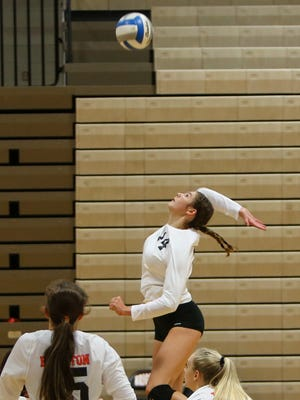 Celia Cullen and her Brighton volleyball teammates will begin district play at 5 p.m. Wednesday against South Lyon at Howell.