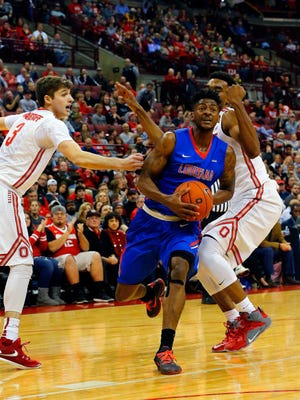 Louisiana Tech guard Alex Hamilton (0) is one of just two players nationally to average 18 points, five rebounds and five assists per game.