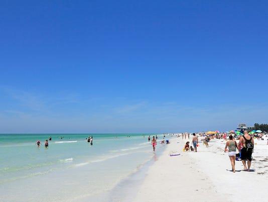 People at Siesta Beach, Florida
