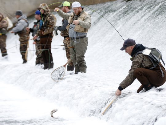 The opening day of trout catch-and-keep season begins