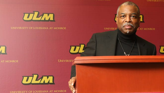 """LeVar Burton talked about his work as an actor in Roots and Star Trek: Next Generation, and hosting Reading Rainbow during a press conference at University of Louisiana at Monroe's library on Thursday. Burton said his favorite book is usually the one he's reading. He said he recently finished Ta-Nahisi Coates' """"Between the World and Me"""" and is reading Howard Zinn's """"A People's History of the United States."""" Burton said he also turns to short fiction and science fiction when he wants to relax."""
