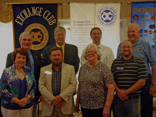 Front row, from left, are Martha Channell, director; Bob Channell, immediate past president; Janet Black, secretary; and Mark Miller, director; back row, George Hubbard, district president; Ed Temple, president; Jamie Mladenoff, director; and Ray Black, director.