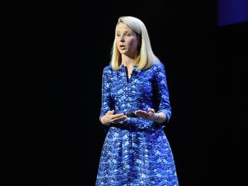 CEO Marissa Mayer of Yahoo.