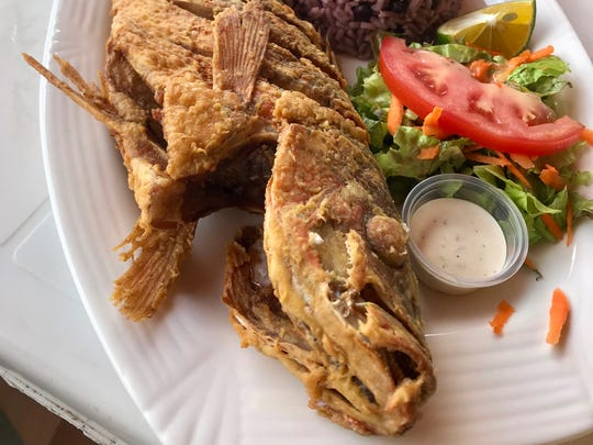 Chef Clint Jolly ate this freshly caught red snapper on the beach of Taboga, an island off Panama.