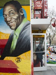 A mural of Bill Cosby painted on the side of Ben's