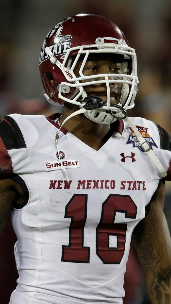 New Mexico State wide receiver Jaleel Scott
