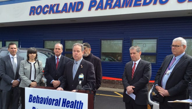 County Executive Ed Day announces the launch of Rockland's behavioral health response team Tuesday.