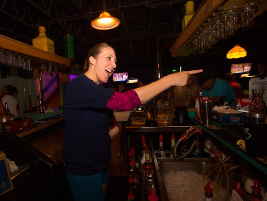 My Brother's Place bartender Stephanie Buck points