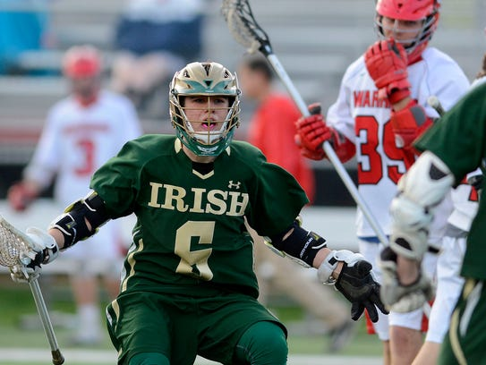 Matthew Cassidy and the York Catholic Fighting Irish have a big boys' lacrosse match on Thursday against Dallastown. YORK DISPATCH FILE PHOTO