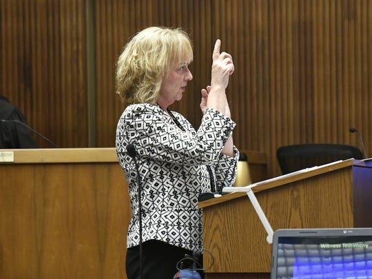 Prosecutor Brenda Broker makes her final arguments to the jury on Tuesday, June 26.