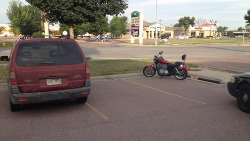 A van and motorcycle collided in the 2500 block of South Louise Avenue on Wednesday morning, July 23, 2014.