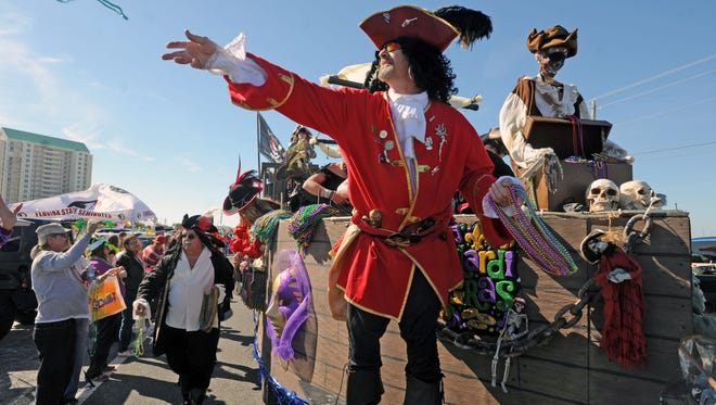 There is a plethora of Mardi Gras events this weekend, including the Krewe of Jesters Navarre Beach Mardi Gras Parade on Saturday.