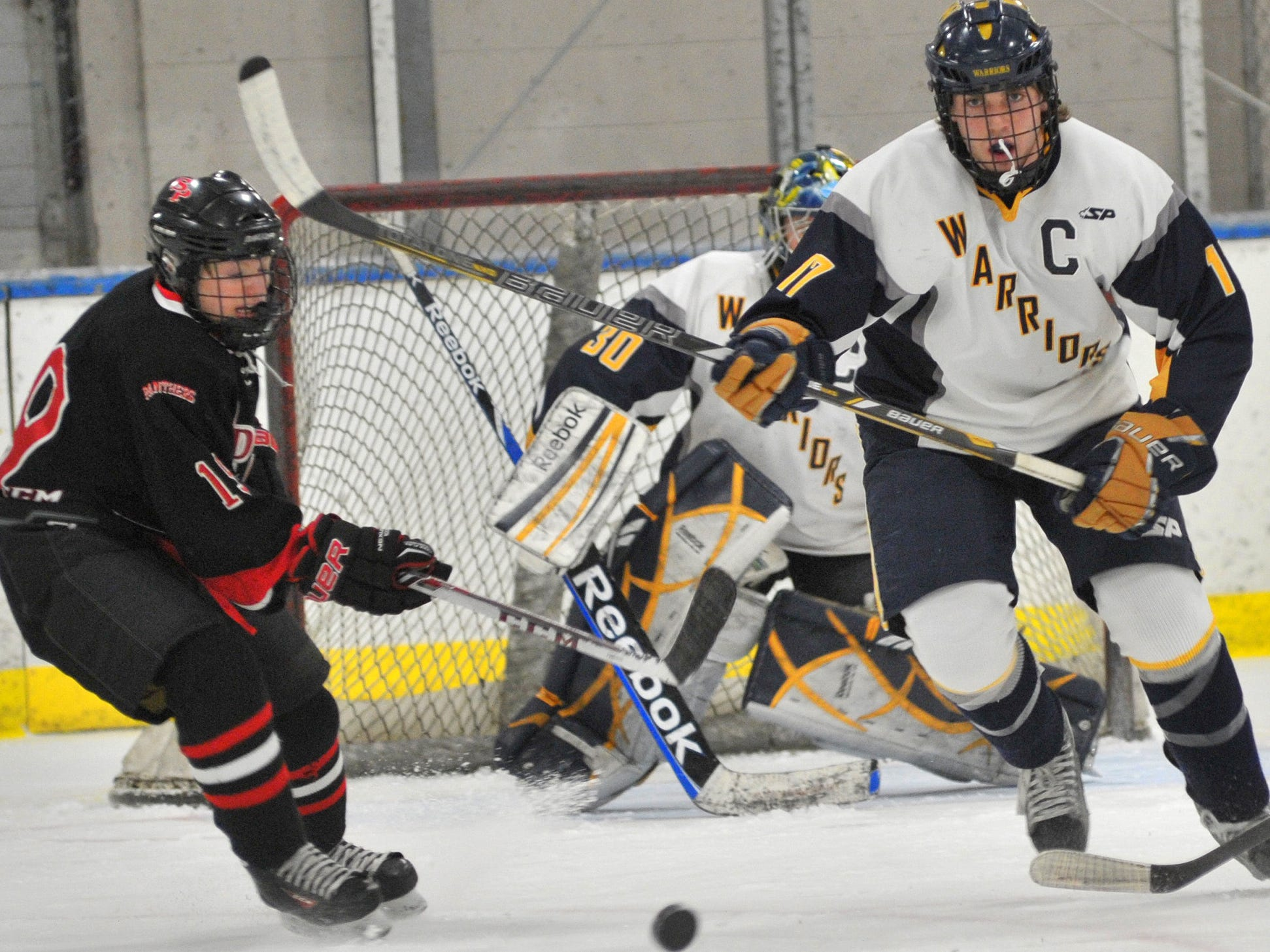 SPASH's Brock Caufield, left, hopes to chosen for the Team USA U-17 team after participating in a tryout camp for the squad last month.