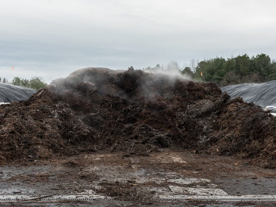 A close up view of a compost pile at Perdue's AgriRecycle Facility in Blades, Del. on Thursday, Jan. 26, 2017.