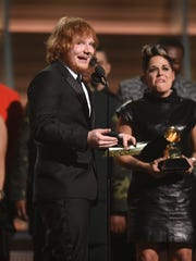 Ed Sheeran wins song of the year during the 58th Grammy